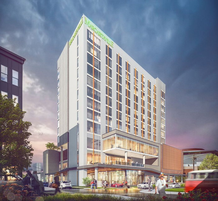 Rendering of the Margaritaville Nashville Hotel