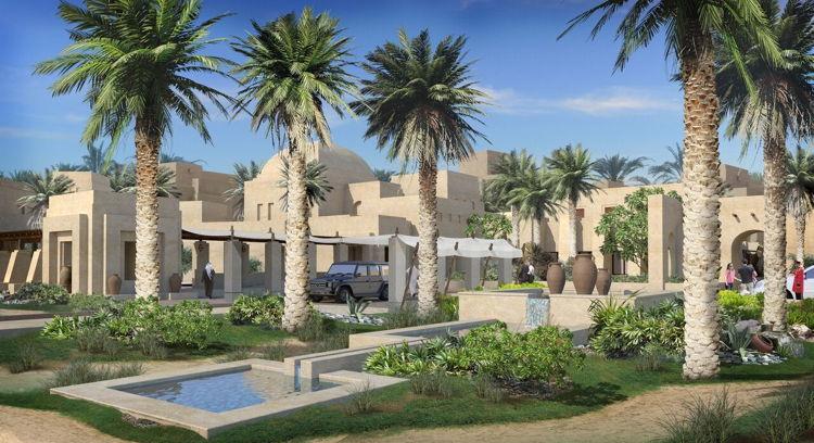 Rendering of the Jumeirah Al Wathba Desert Resort in Abu Dhabi