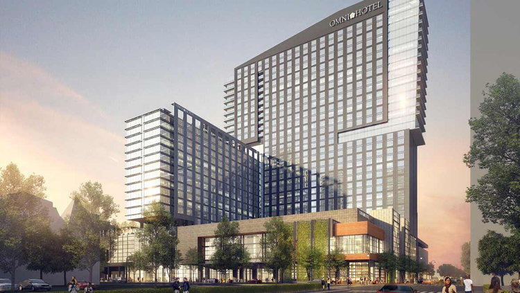Rendering of the Omni Louisville Hotel