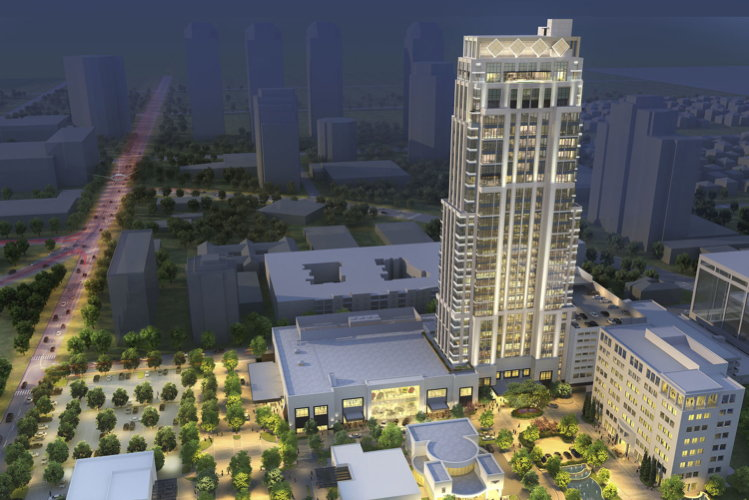 Rendering of the The Post Oak Hotel at Uptown Houston