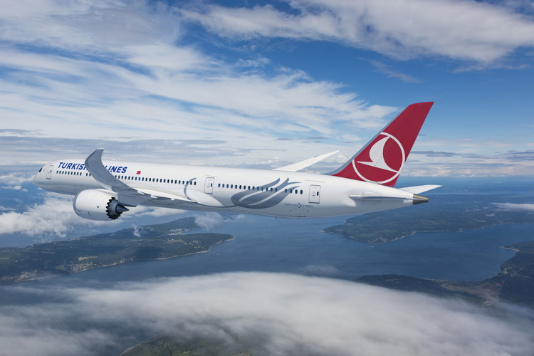 787 Dreamliners with Turkish Airlines livery