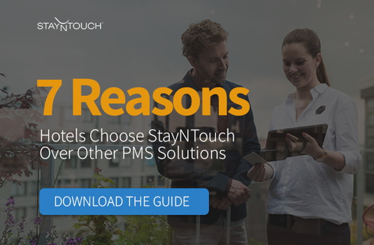 Promotional image for StayNTouch report