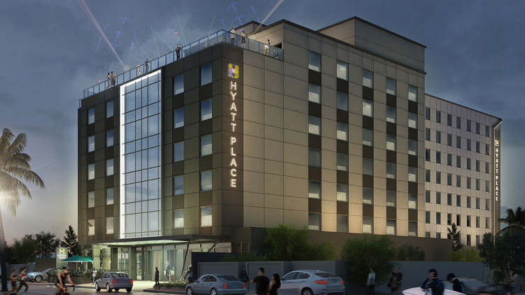 Rendering of the Hyatt Place Macaé Hotel