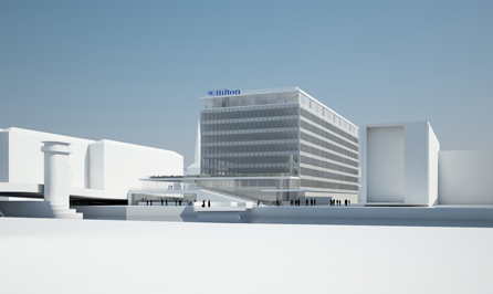 Rendering of the Hilton Copenhagen City Centre Hotel