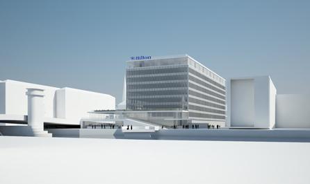 Rendering of the Hilton Copenhagen City Centre Hotel