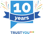 TrustYou 10 year anniversay badge