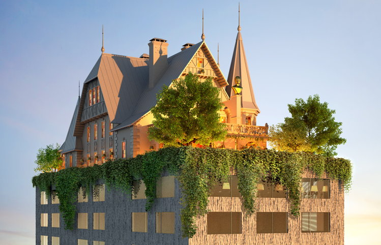 Rendering of the Maison Heler Metz, Curio Collection by Hilton Hotel