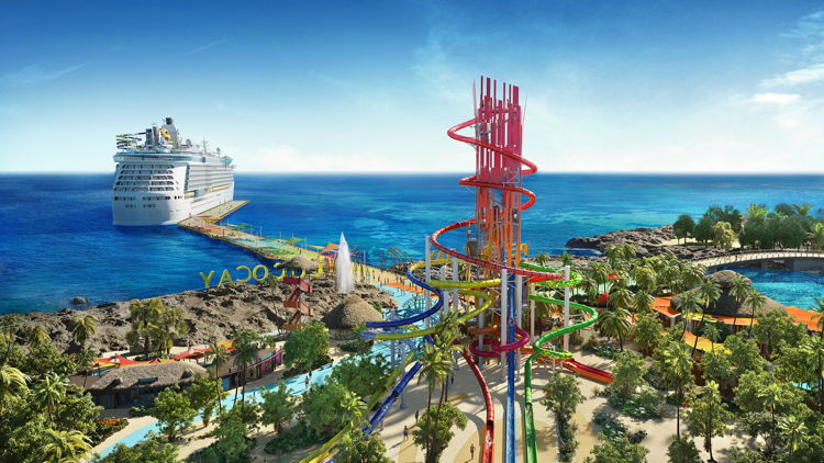 Rendering of CocoCay, Bahamas