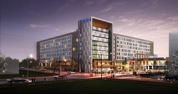 Rendering of the Hilton Des Moines Downtown Hotel
