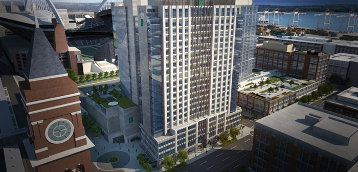 Rendering of the Embassy Suites by Hilton Seattle Downtown Pioneer Square