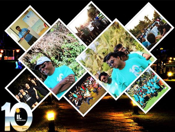 Hotelogix 10 Year Anniversary Collage