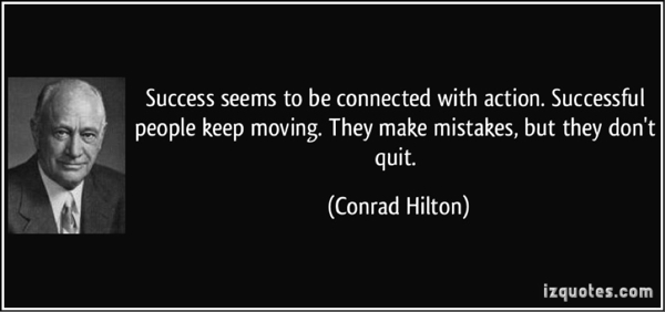 Image of Conrad Hilton with a quotation