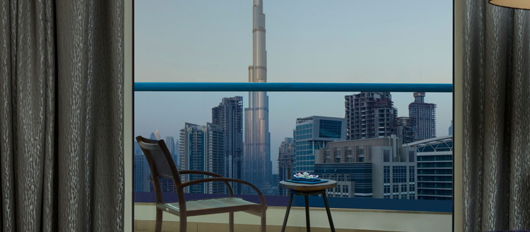 View from a room at the Radisson Blu Hotel Dubai Waterfront
