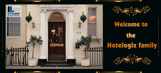 Pembridge Palace Hotel - Entrance and Hotelogix message