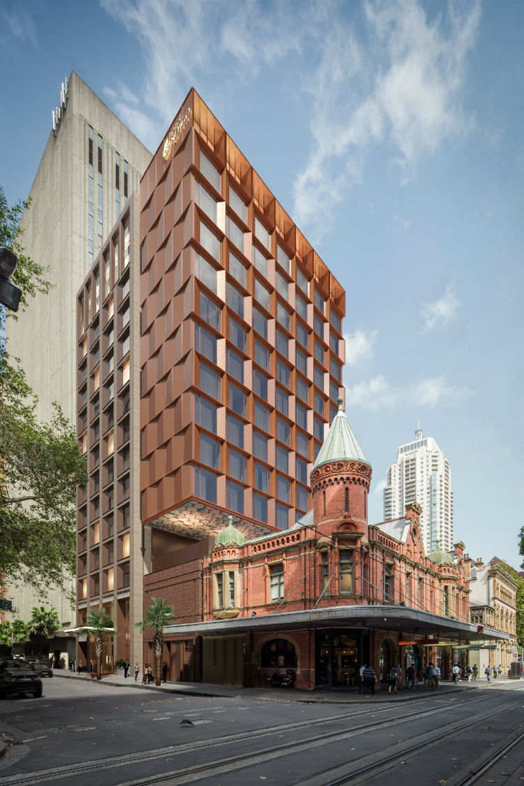 Rendering of the Hotel Indigo Sydney Central