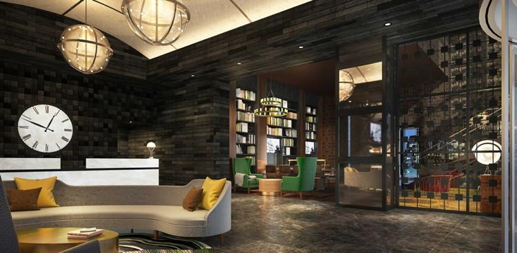 The Porter Portland Hotel - Lobby Library