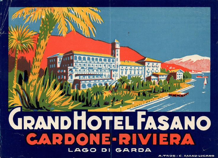 Vintage Travel Poster - Grand Hotel Fasa