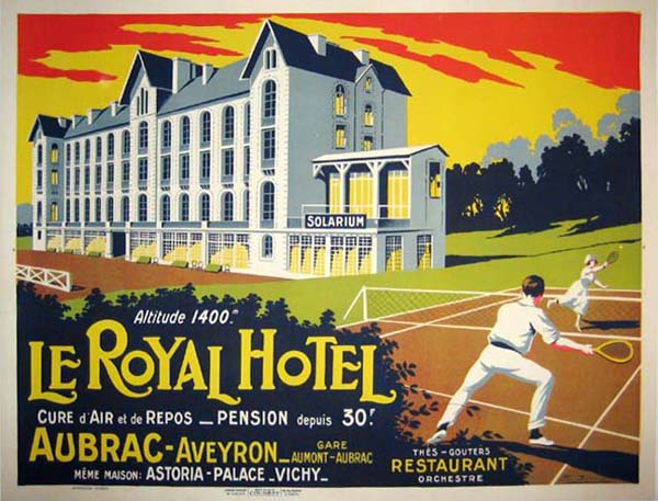 Vintage Travel Poster - Le Royal Hotel