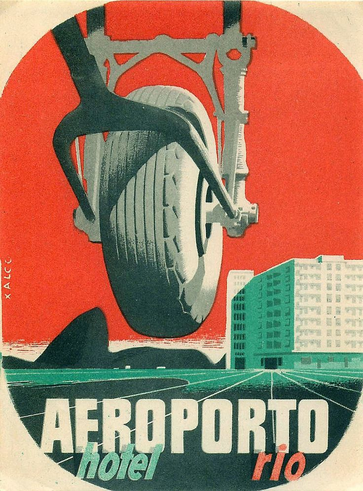 Vintage Travel Poster - Rio Airport Hotel