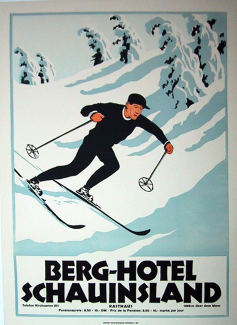 Vintage Travel Poster - Berg Hotel