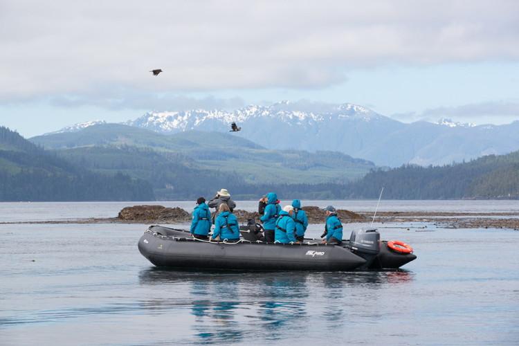 Seabourn guided kayak