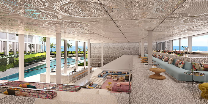 Rendering of the W Ibiza Hotel