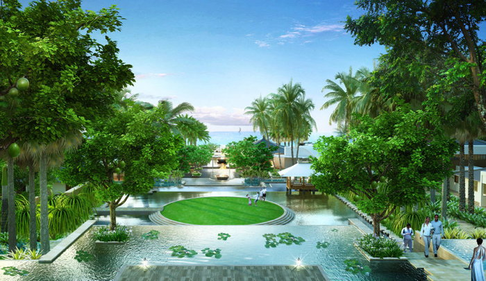 Rendering of the Capella Sanya - The Romance Lawn