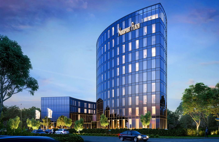 Rendering of the Nordport Plaza Hamburg-Airport Hotel