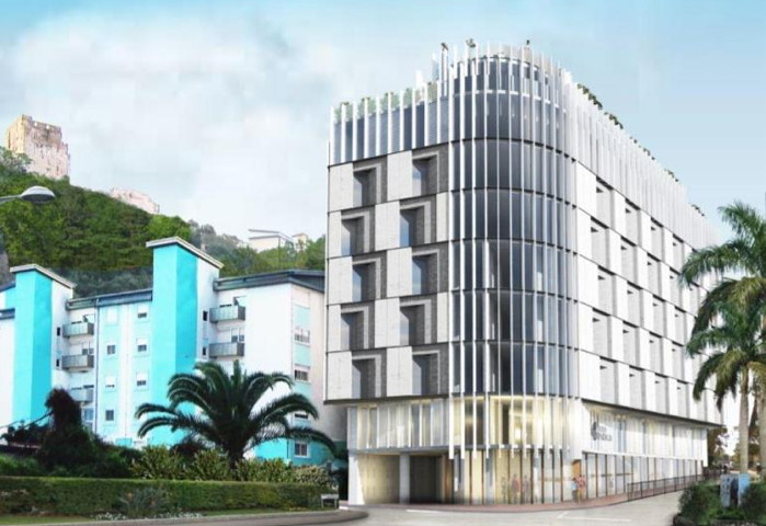 Rendering of the Hotel Indigo Gibraltar