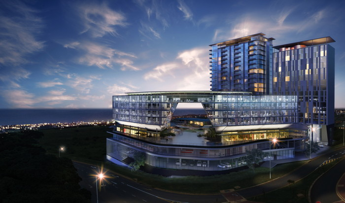 Rendering of the Hilton Garden Inn Umhlanga Arch