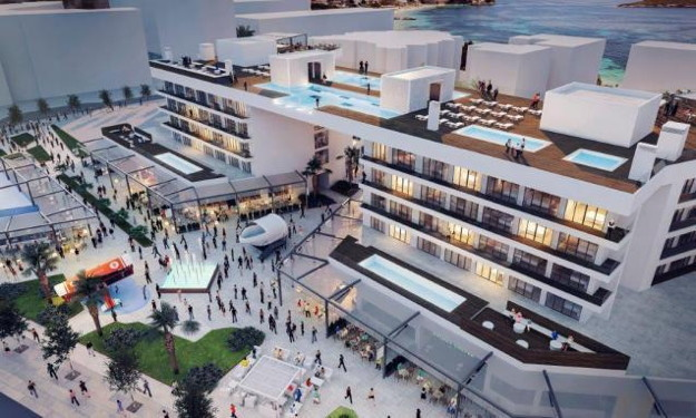 Rendering of the Calvià Beach Plaza Hotel and Momentum Plaza in Magaluf, Spain