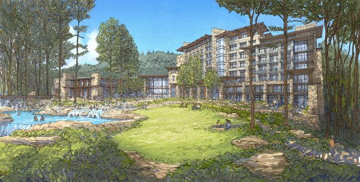 Rendering of the McLemore Resort Lookout Mountain