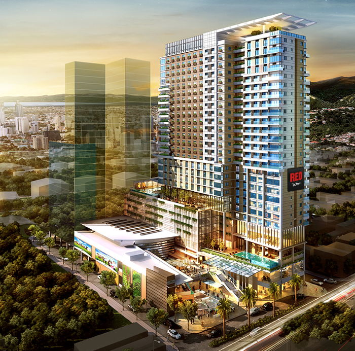 Rendering of the Radisson RED Mandaue Hotel to Open 2021 in the  Philippines