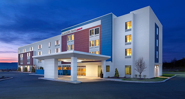 Rendering of the SpringHill Suites by Marriott in Middle River, Maryland