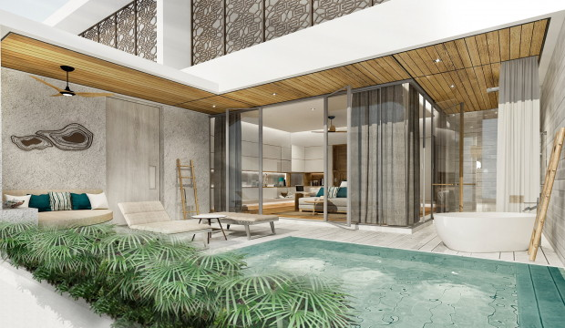 Rendering of a suite at the Meliá Phuket Mai Khao Hotel
