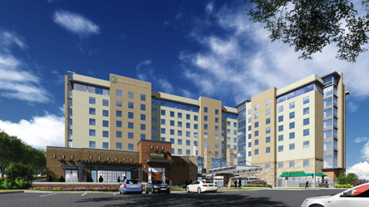Rendering of the Embassy Suites by Hilton Berkeley Heights in New Jersey