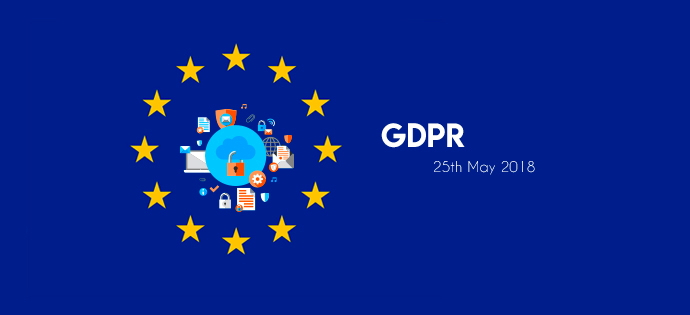 Illustration - EU logo and GDPR concept