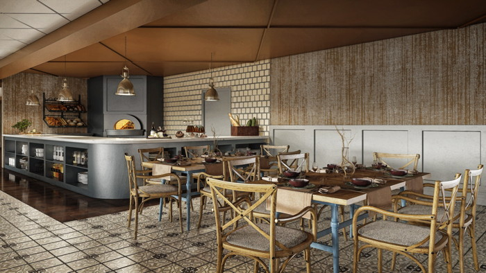 Rendering of The Brasserie at Galt House Hotel