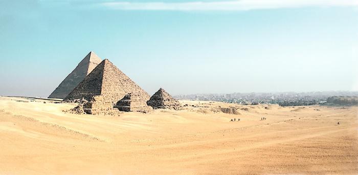 Pyramids in Cairo Photo by Simon Matzinger on Unsplash