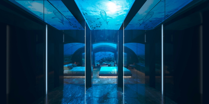 Rendering of the Undersea Residence at the Conrad Maldives Rangali Island