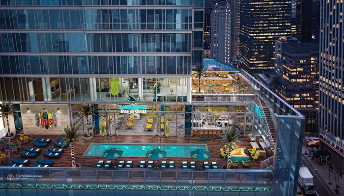 Rendering of the Margaritaville Resort in New York City