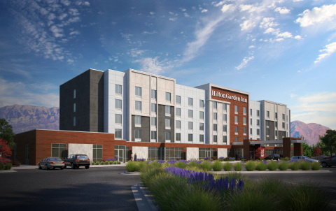 Rendering of the new Hilton Garden Inn Lehi in Utah