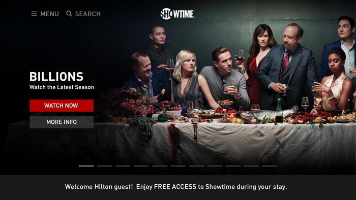 Screenshot SHOWTIME Hilton App