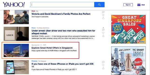 Screenshot Yahoo