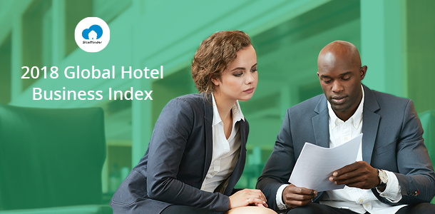 Promotional image for SiteMinder's Global Hotel Business Index 2018