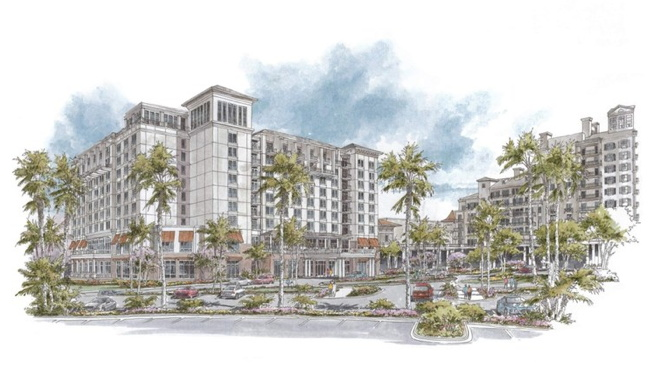 Rendering of the Sandestin Hotel and Conference Center