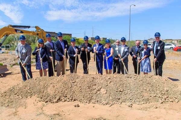 Photo from the groundbreaking ceremny for the Dual-Branded Best Western Hotel in Phoenix