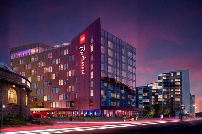 Rendering of the Radisson RED Glasgow Hotel