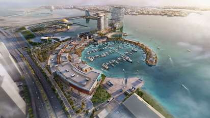 Rendering of the Bahrain Marina