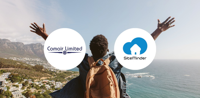 Comair Travel and SiteMinder logos